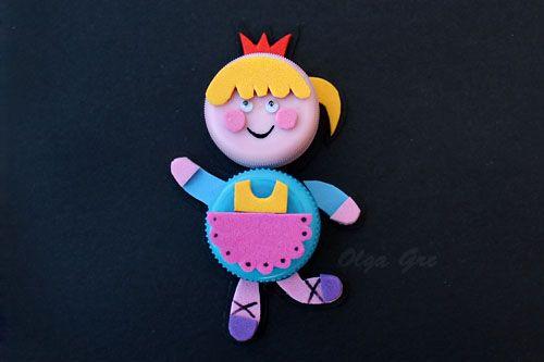 Поделки из крышек: Принцесса