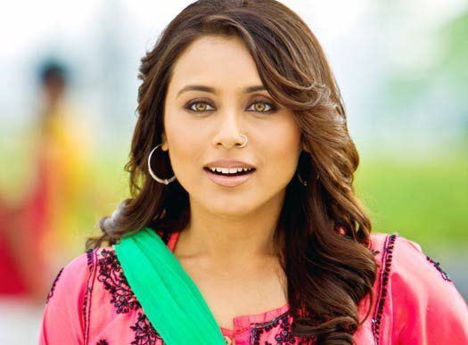 Bollywood actress Rani Mukherji Images in Happy Mode