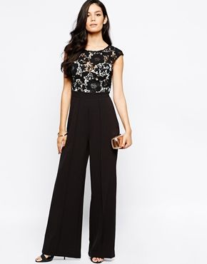 Enlarge Lipsy Jumpsuit with Lace Top