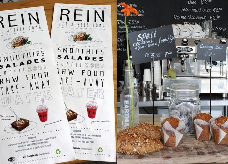 REIN Amsterdam -- hotspot -- Gezonde ontbijtjes, lunch, smoothies en meer