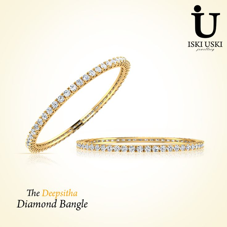 Buy online designer and ‪#‎fashionable‬ ‪#‎Bangles‬ in Diamond at IskiUski, one stop destination for designer and quality diamond bangles.