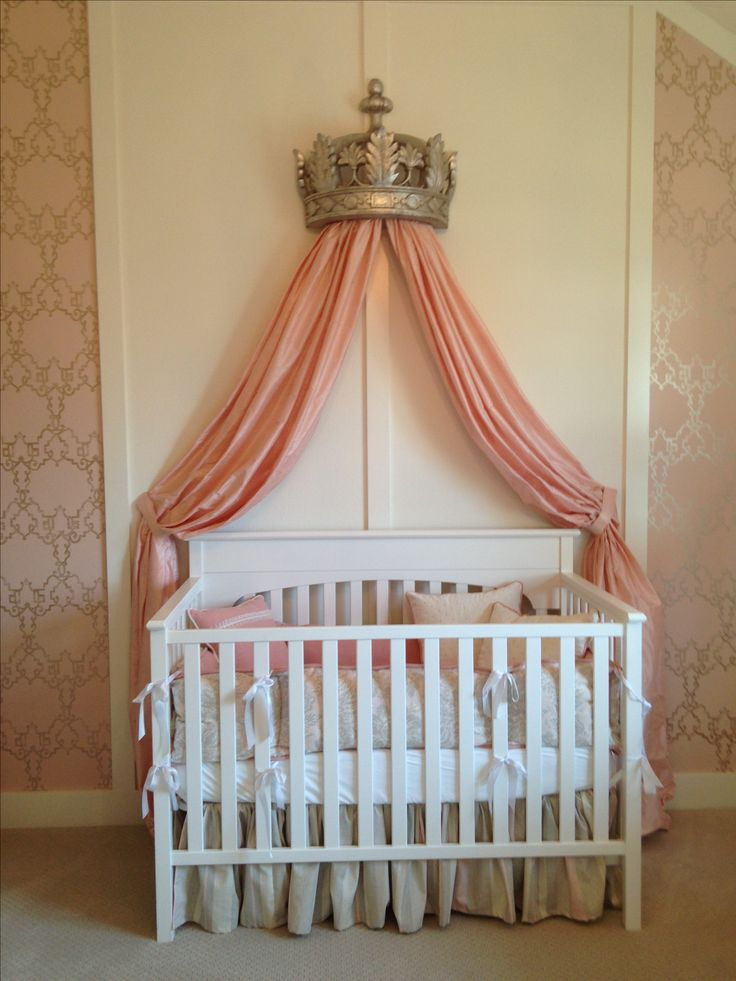 Princess baby nursery thenurseries for Princess decorations for rooms