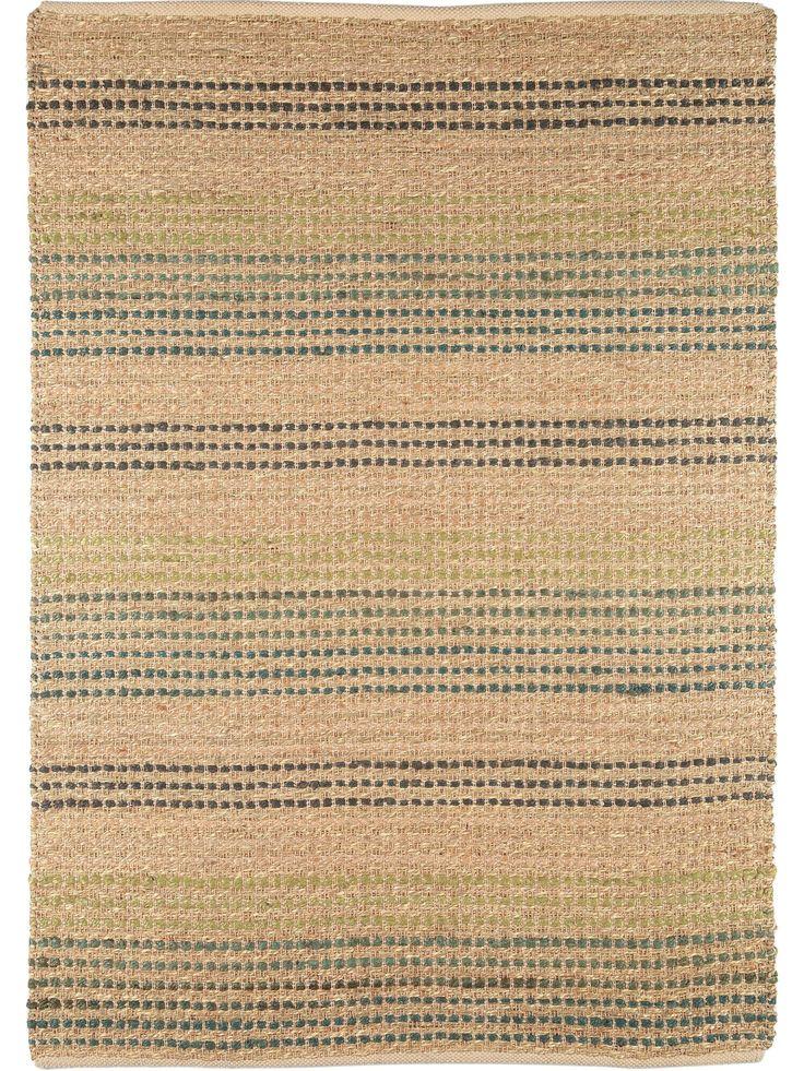 Natürlich einrichten mit dem bentua Teppich Seagrass Beige/Türkis