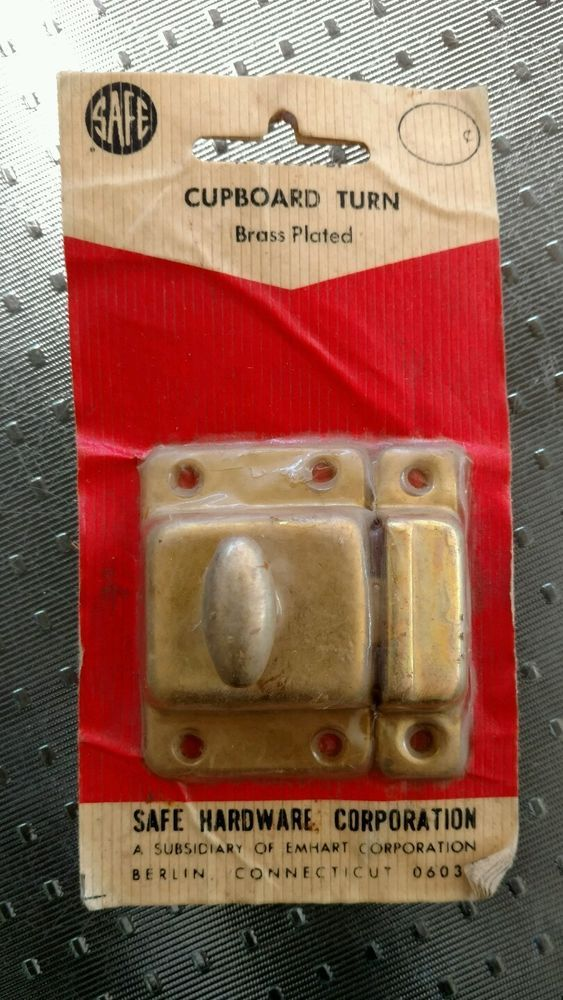 Lock Cupboard Turn Brass Plated by SAFE Hardware