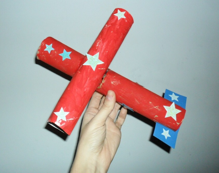 7 Inspiring Kid Room Color Options For Your Little Ones: Paper Towel Roll Airplane