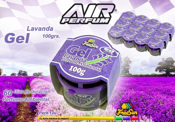 Freesur Air Perfum gel lavanda perfume ambiental para autos 100 grs. Pack 12 u. - José Clemente Paz