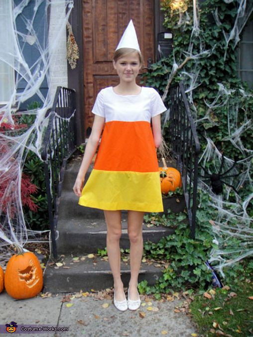 Candy Corn costume! Might have to do this next year for school parties! :)