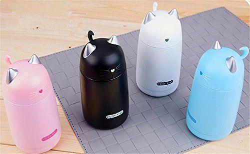 Amazon|Cute Minor ステンレスカップ サーモマグ 水筒 保温 春夏秋冬可 可愛い 動物柄 持ち運びやすい 軽い 学生用 猫 (クロ)|水筒・マグボトル オンライン通販