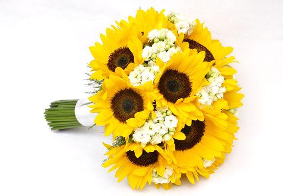 Bouquet de girassóis para noivas