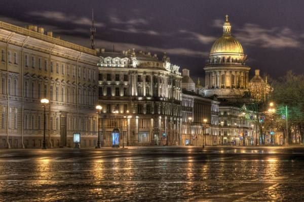 Early Morning In St Petersburg Russia