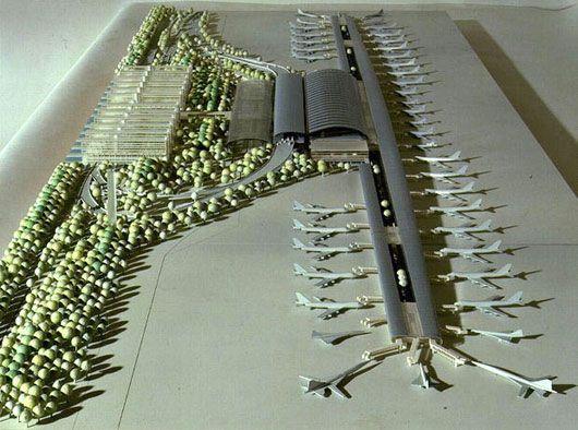Kansai, international airport, Osaka (Japon), Renzo Piano, Architect