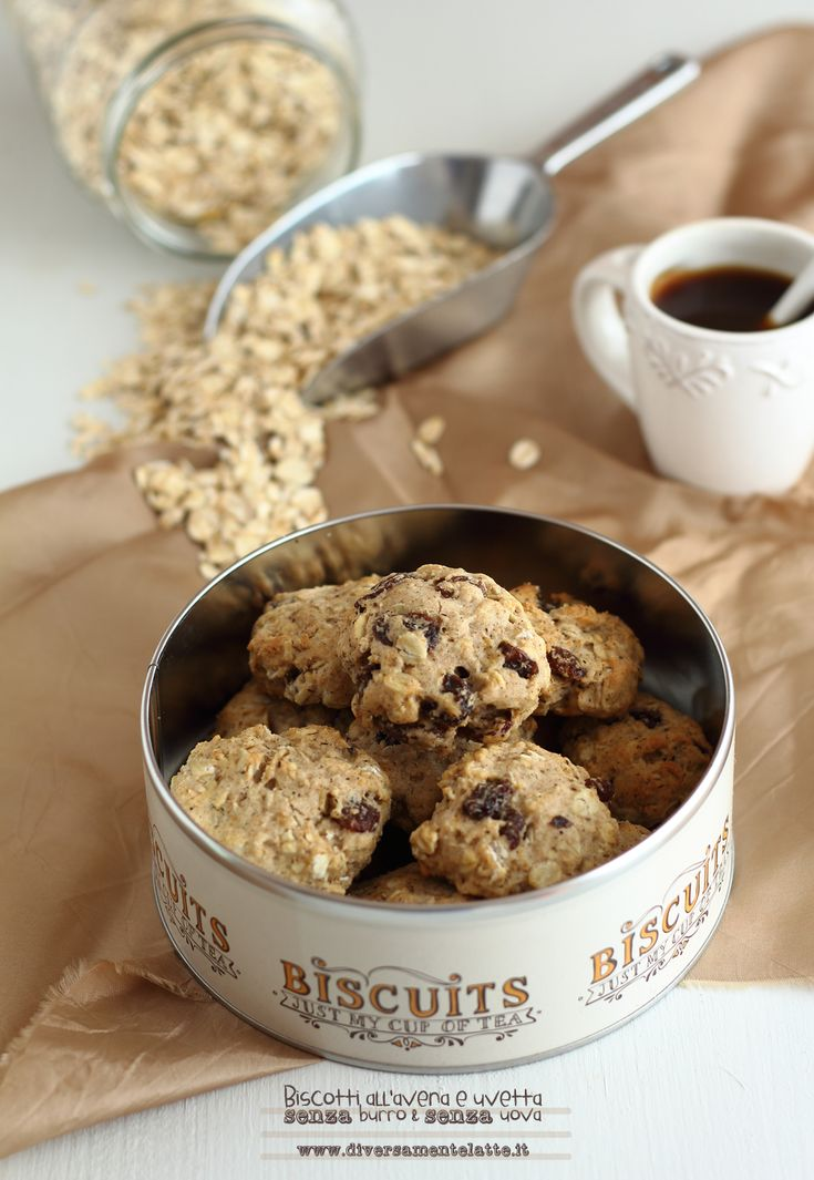 biscotti all'avena e uvetta #senzalattosio #senzauova