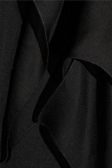 Roberto Cavalli - Crochet-trimmed Ruffled Silk-chiffon Shirt - Black - IT38