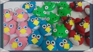 ARTES DA NANDA DA BAHIA : Chaveiros Angry Birds