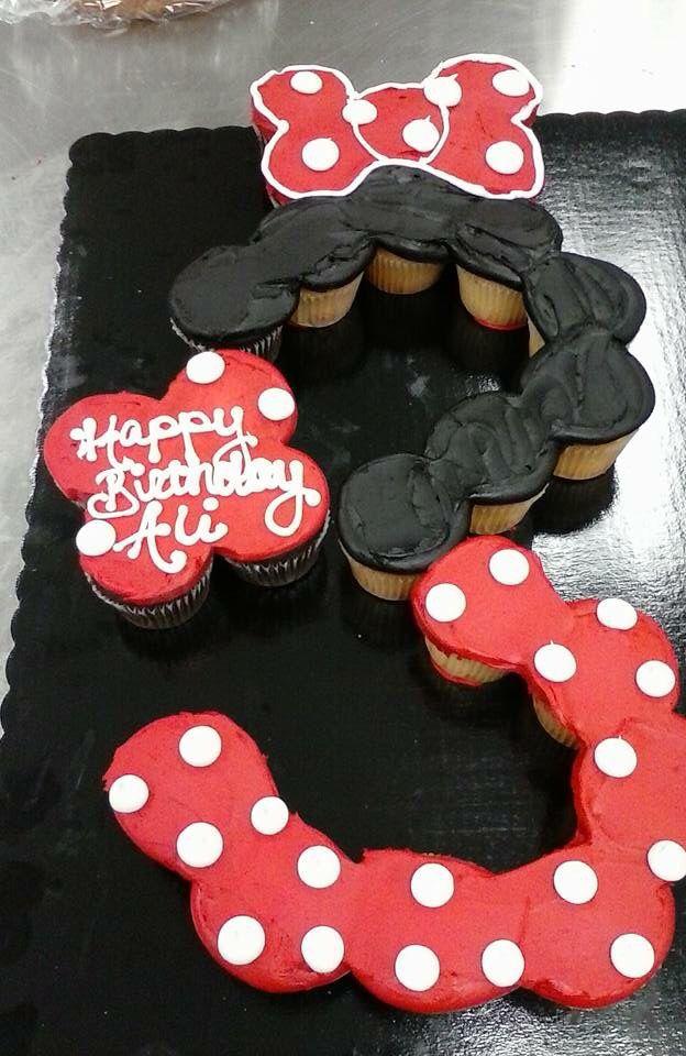 Minnie Mouse cupcake cake.