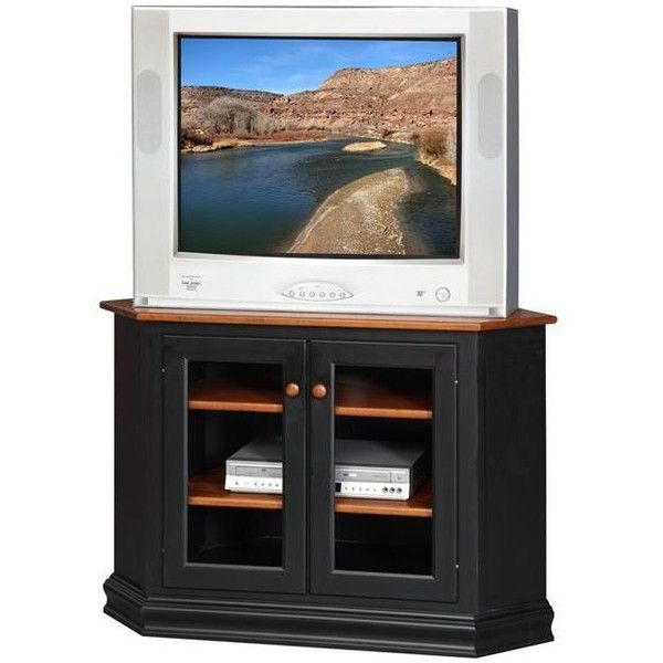 Amish Hyde Park Corner TV Stand ($720) ❤ liked on Polyvore featuring home, furniture, storage & shelves, entertainment units, dvd shelves, storage shelving, media storage cabinet, display shelves and dvd storage shelves