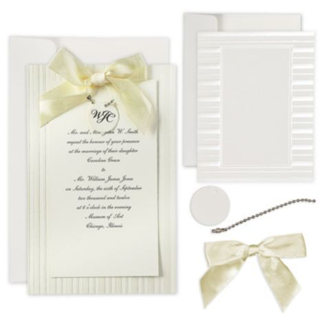 Superb Ivory Simple Yet Elegant Printable Wedding Invitations Kit   Party City