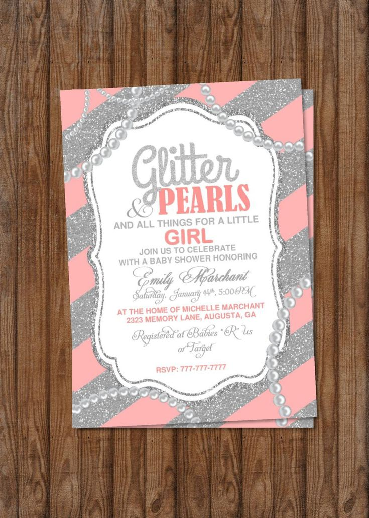 Baby Shower | Girl Baby Shower | Glitter And Pearls | All Things Little  Girl |