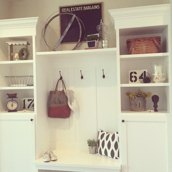 White mudroom - love all the shelves for storage eclecticallyvintage.com