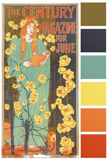 June Monthly Challenge Color Palette | Art deco colors ...