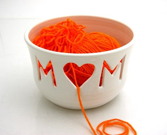 Yarn Bowl Knitting Crotchet Bowl Mom Mothers Day Gift by LennyMud