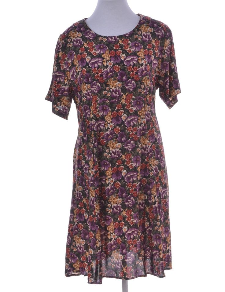 Vintage Day Dress Multi-colour | Beyond Retro