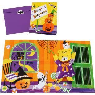 Pop-up Card (Halloween/Teddy Bear),Craft Cards,Card,Halloween,Candy ,Pumpkin ,teddy bear,bat,Ghost