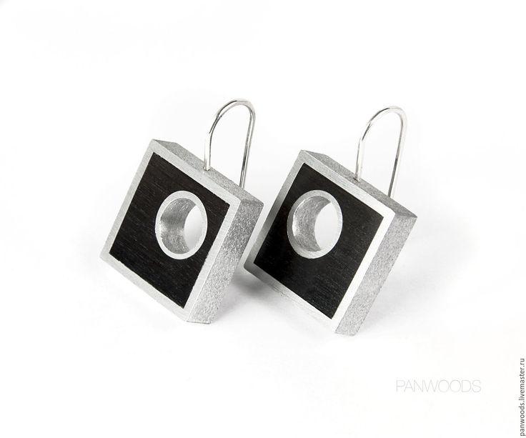 Купить Серьги Black Beauty S3 - минимализм, утонченные серьги, утонченность, стильный дизайн