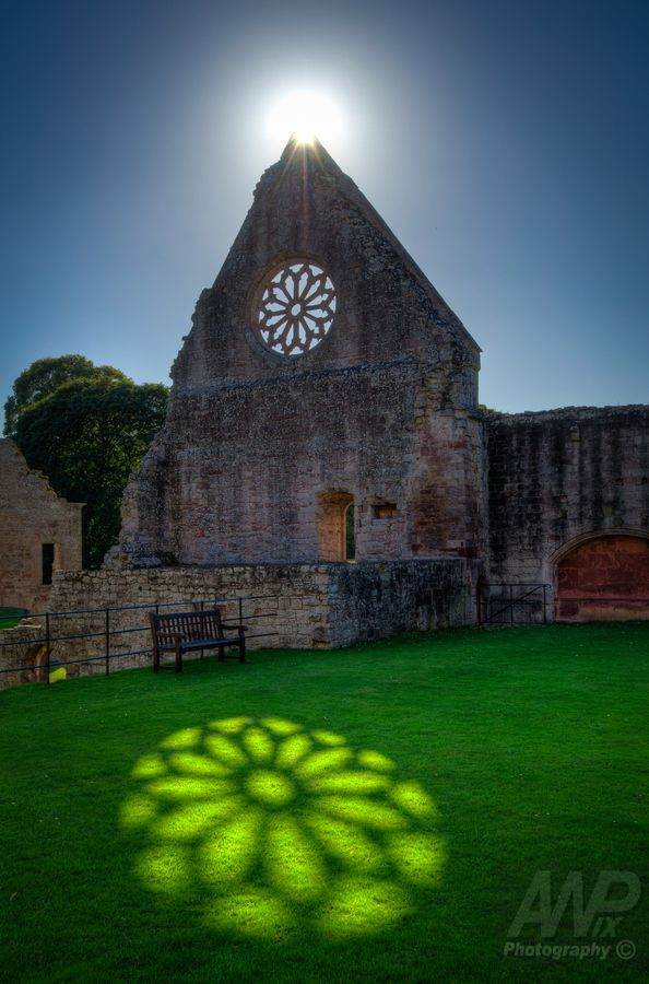 Sunlit Reflection - Mdryburgh Abbey - Scottish Border - Scotland