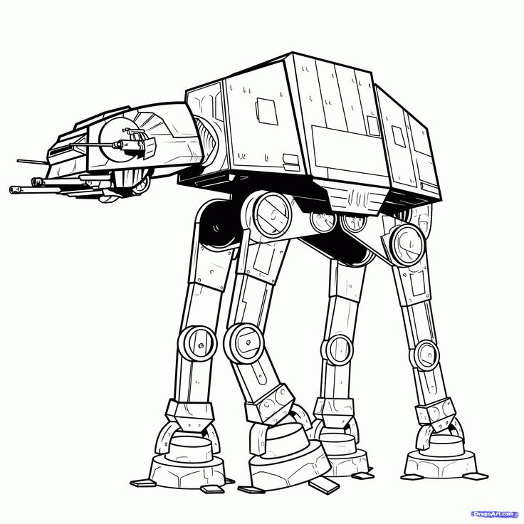 how to draw an imperial walker, imperial walker step 11