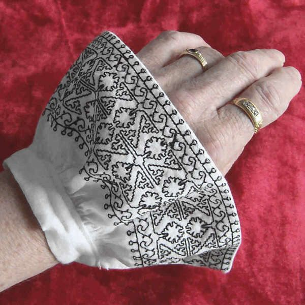 blackwork cuff - detachable, add to assorted shifts, or remove for working