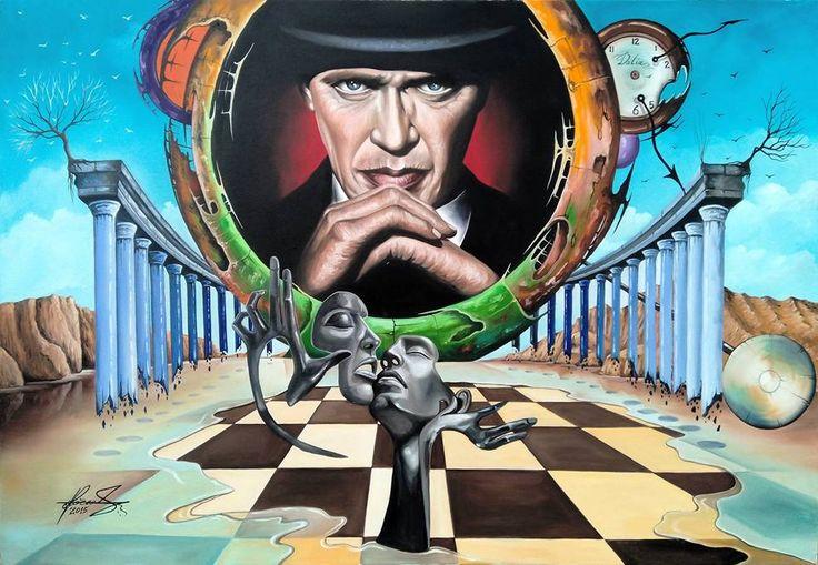 """Destiny it's an Illusion"" - Oil on canvas.  Mihai Adrian Raceanu, Painter from Romania #art #painter #painting #surrealism"