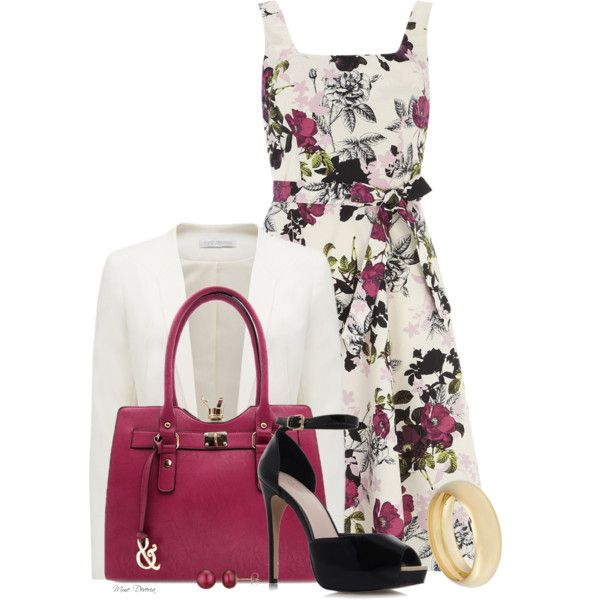 A fashion look from August 2014 featuring flower pattern dress, Forever New и evening sandals. Browse and shop related looks.