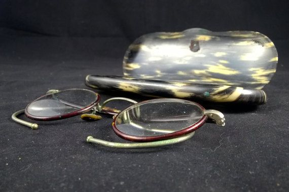 Antique spectacles antique eyewear reading frame by SmalandVintage