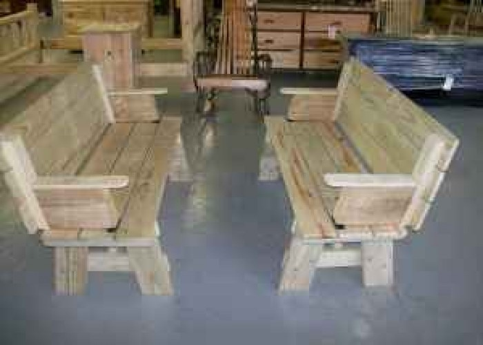 AMISH BENCHES CONVERT TO PICNIC TABLE (Lawrenceburg, TN