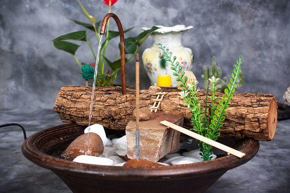 Fonte de água 100% artesanal pedras naturais incensário 4