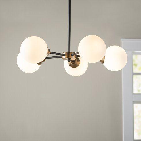 St helens 5 light sputnik chandelier
