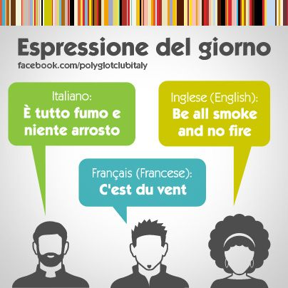 Italian / English idiom: be all smoke and no fire
