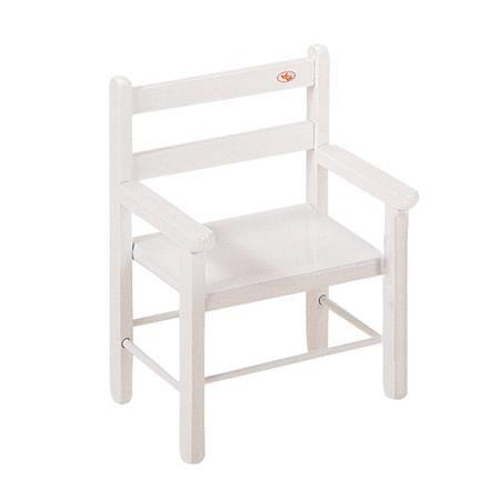 Chaise basse, bois laqué blanc