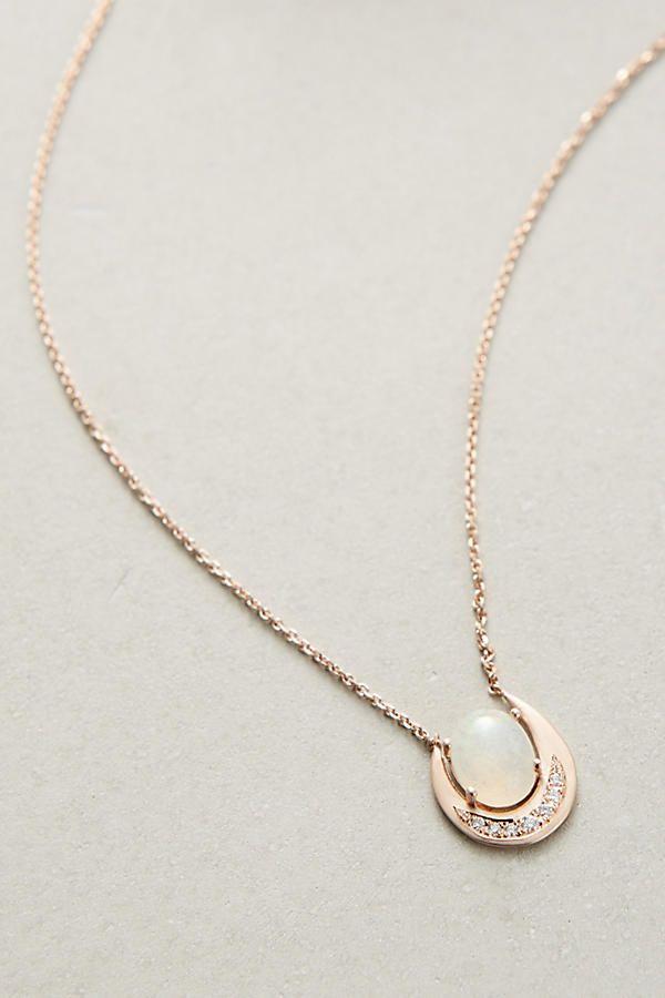 Irius Moonstone Pendant Necklace