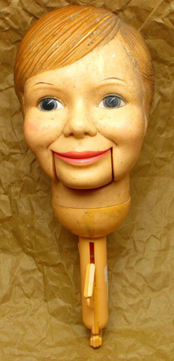 VENTRILOQUIST DOLL HEAD Simon Sez vintage c. 1973 Horsman Dolls Inc dirty dummy puppet boy mannequin