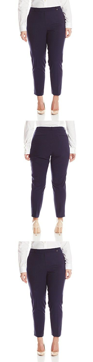 Calvin Klein Women's Plus-Size Pant with Belt Loops, Twilight, 14W