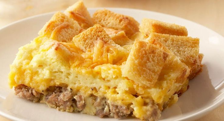 This tasty, golden brown casserole can be ready in less than one hour or you can make it the night before, chill and bake it in the morning. Choose lower fat cheese, milk and sausage for a lighter, yet still tasty version.