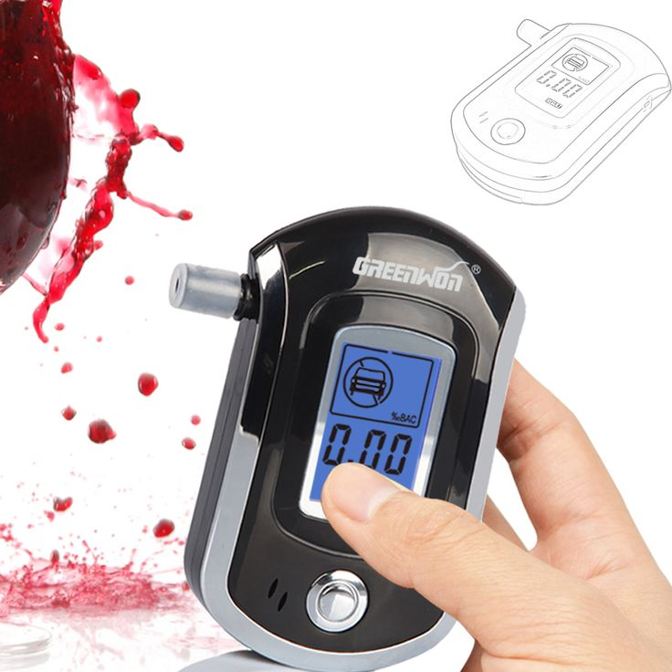 2014 NEW Hot jual Profesional Polisi Digital Nafas Alkohol Tester Breathalyzer AT6000 Gratis pengiriman Dropshipping