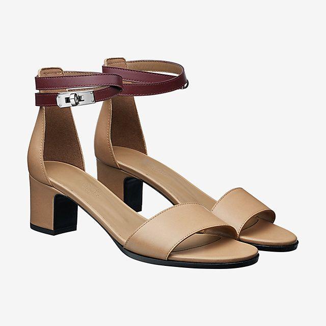 5a7ad7c1a6f Hermes Manege sandal - camel bordeaux