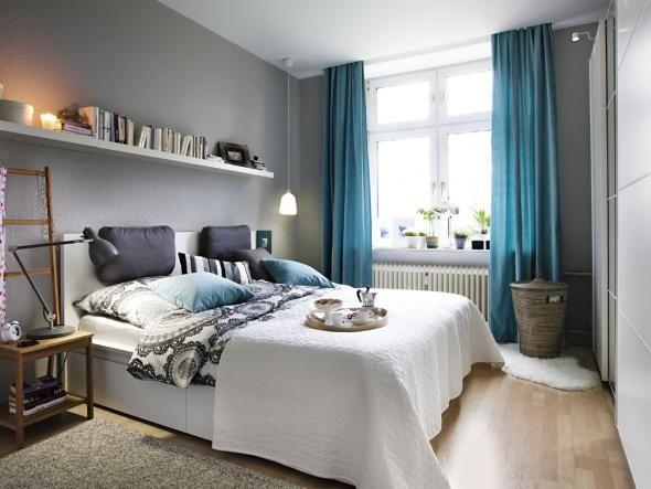Endlich ein Schlafzimmer, das auch am Tag etwas hermacht. Julia Collin und Guido Scheller freuen sich über ein Happyend bei unserem Gewinnspiel und neue Möbel von IKEA.