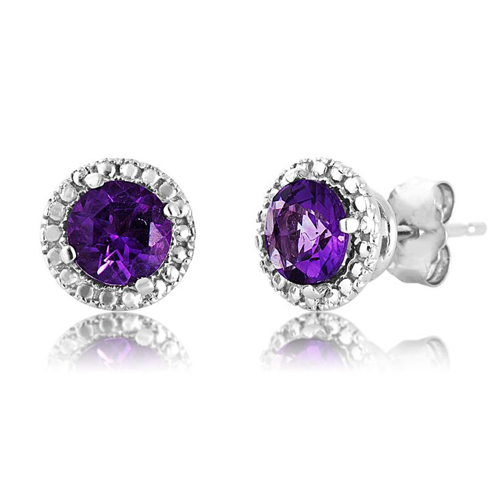 Product Name : Ladies Amethyst Earrings in 10k White Gold - YER00594W1AM AME  Price : $ 99.40
