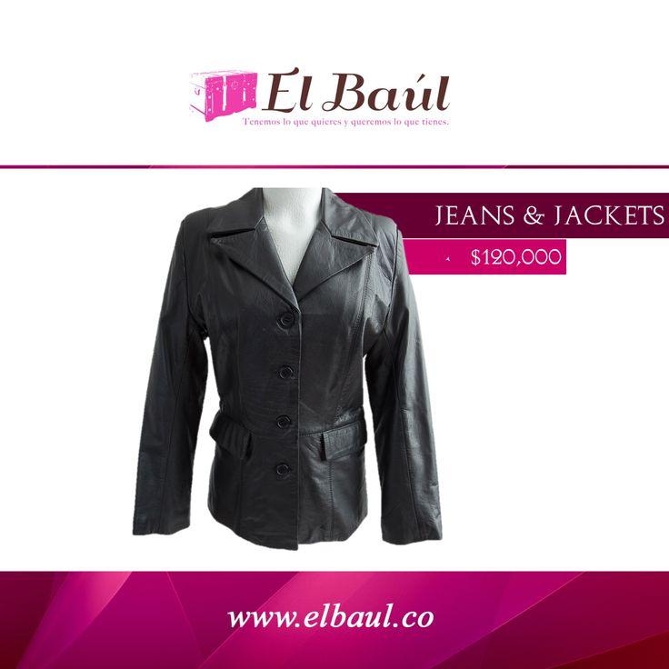 Chaqueta JEANS AND JACKETS un equilibrio entre lo formal y lo informal  $120,000  http://elbaul.co/Productos/554/Chaqueta-Jeans-y-Jackets--negra-cuero-