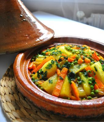 Moroccan Vegetable Tagine. Can be made in Crockpot too.