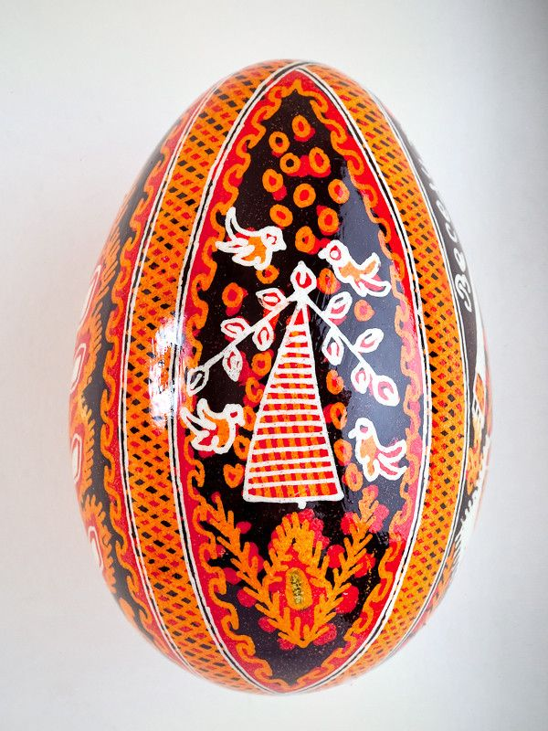 Pysanka Goose Egg Ornament - Select your design